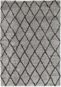 Autumn Diamond Grey Charcoal Shag Rug