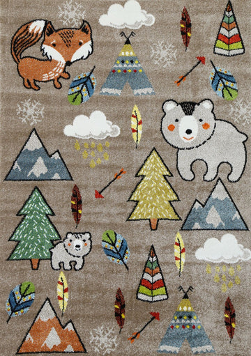 Rachel Kids Adventure Beige Rug