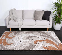 Angie Orange Mosaic Motif Rug