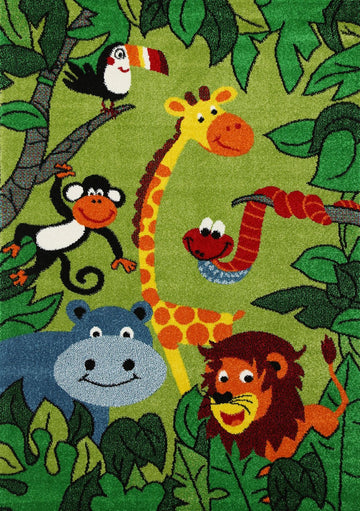 Rachel Kids Happy Jungle Rug