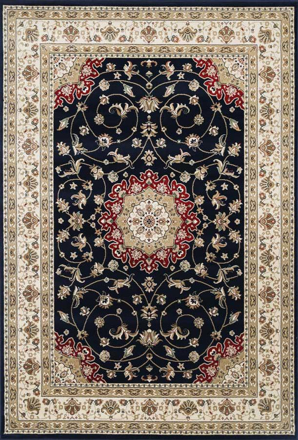 Oxford Oriental Rug Medalian Black Cream