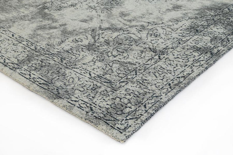 Esther Bohemian Border Grey Distressed Rug