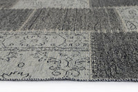 Esther Bohemian Patchwork Grey Distressed Rug