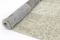 Esther Bohemian Patchwork Beige Distressed Rug