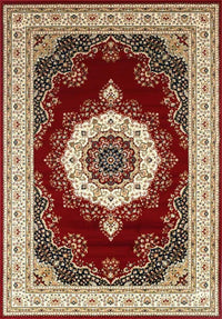 Oxford Oriental Rug Medalian Red Cream