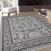 Gerald Rug Traditional All Grey Design