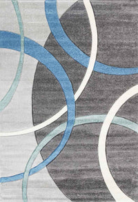 Taurus Rings Blue And Grey Rug