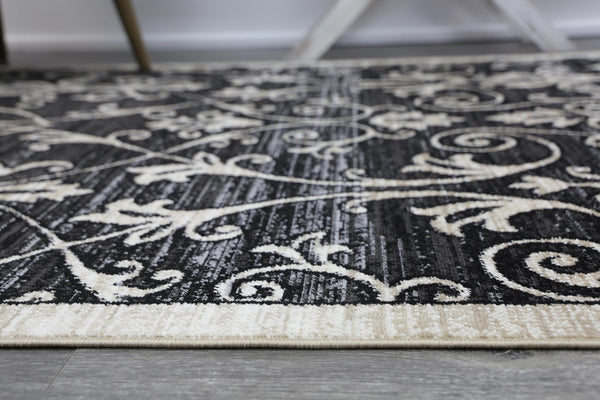 Tina Vines Grey Beige Rug