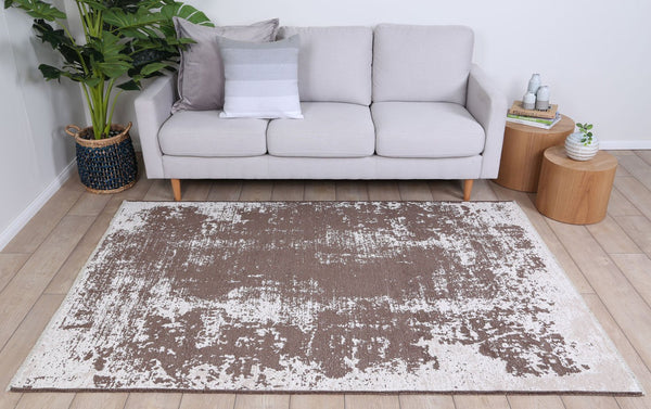 Kimberly Vintage Abstract Amazing 2 In 1 Reversible Beige Rug