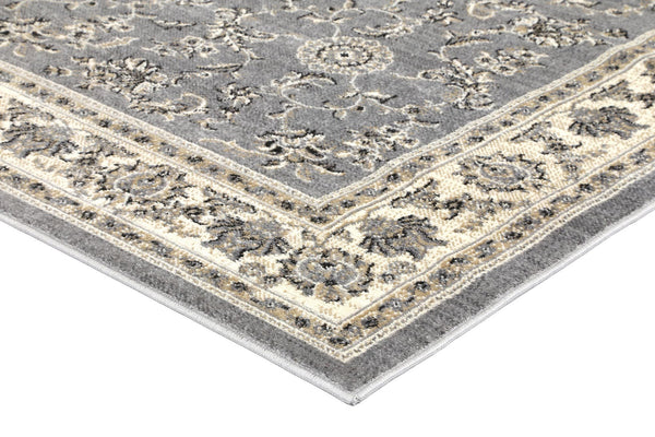 Tina Grey Cream Border Rug