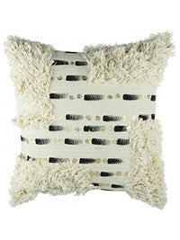 Marva Boho Cushion Black And Natural 50X50 Rug