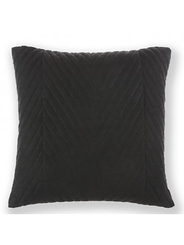 Quilt Cushion Black 50X50 Rug
