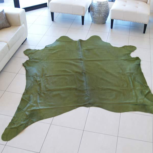 Cowhide Dyed Apple Rug