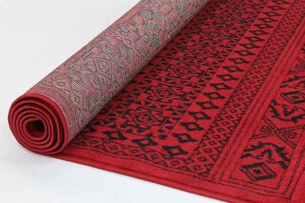 Mirage Afghan Camel Red Rug