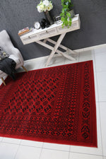Allure Afghan Camel Red Rug