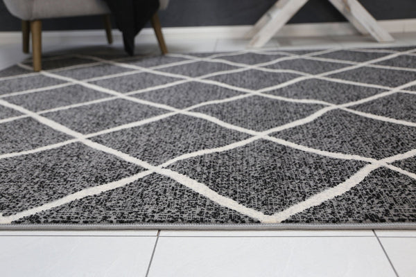 Mirage Cross Diamond Grey Rug