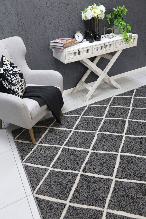 Allure Cross Diamond Grey Rug