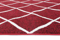 Mirage Cross Diamond Red Cream Rug