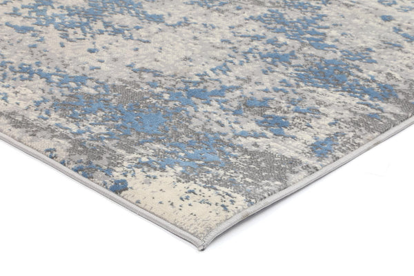 Mirage Modern Abstract Blue Rug