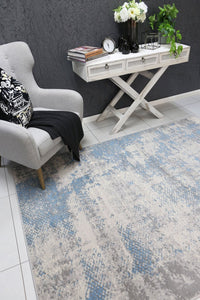 Allure Modern Abstract Blue Rug
