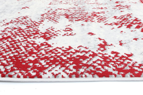 Mirage Modern Abstract Red Rug