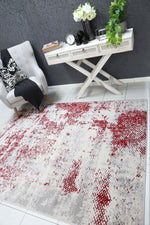Allure Modern Abstract Red Rug