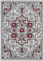 Mirage Distressed Vintage Red Grey Rug