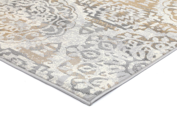 Mirage Distressed Classic Beige Grey Rug