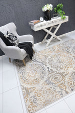 Allure Distressed Classic Beige Grey Rug