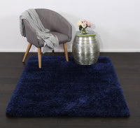 Flokati Super Soft Ultra Thick Shag Rug Navy