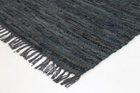 Hailey Modern Grey Leather Rug