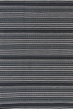 Illusion Natural Cotton Rug Black