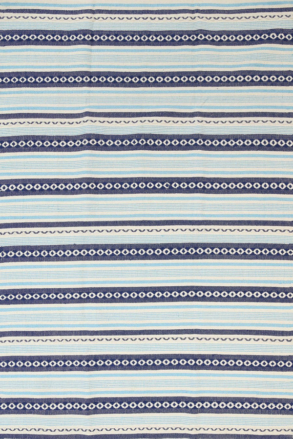 Illusion Natural Cotton Rug Blue