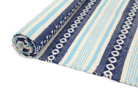 Illusion Natural Cotton Blue Rug
