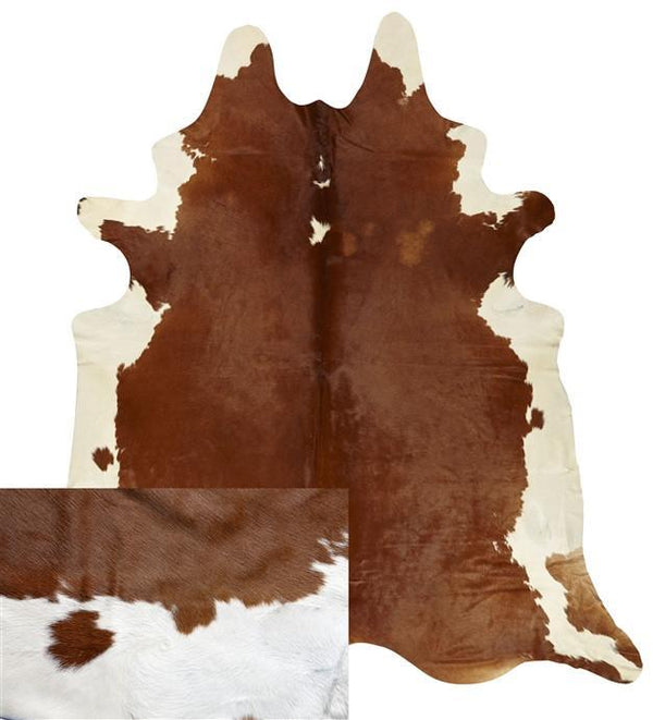 Cowhide Natural Caramel And White Rug