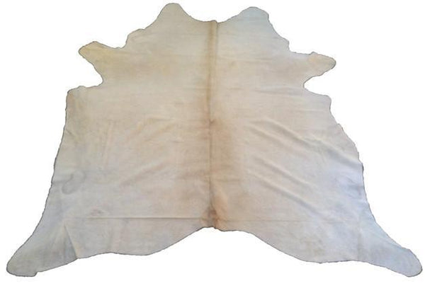 Cowhide Natural Solid Cream Rug