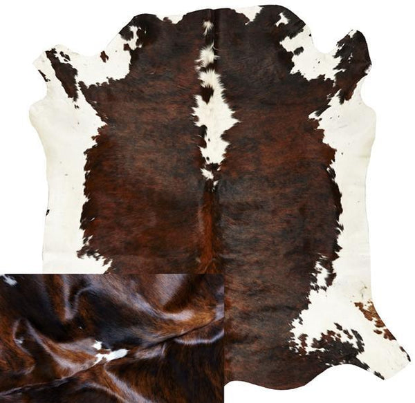 Cowhide Natural Tri Coloured Rug