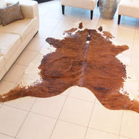 Cowhide Natural White Belly Rug