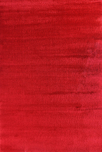 Crush Shaggy Red Rug