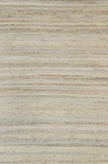 Libya Natural Basket Weave Blue Jute Rug