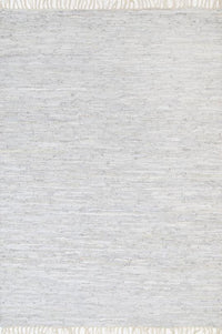Hailey Modern White Leather Rug