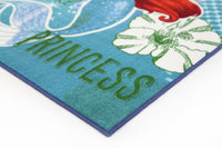 Non Slip Multicolour Disney Princess Ariel Little Mermaid Kids Rug