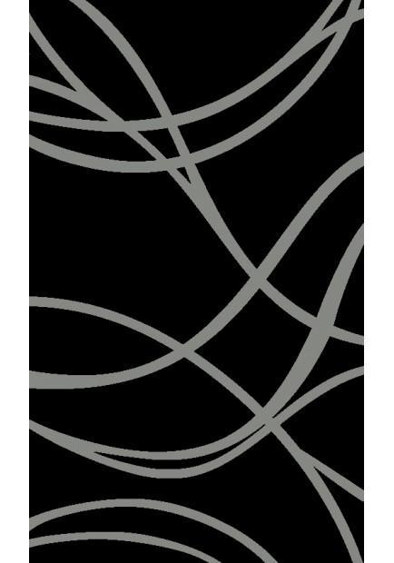 Rita Black Waves Rug