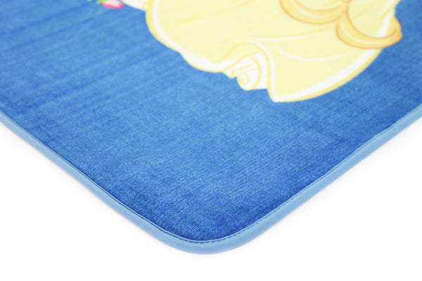 Non Slip Blue Kids Disney Beauty And The Beast Princess Belle Love Rug
