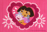 Non Slip Pink Kids Nickelodeon Dora the Explorer and Boots Love Heart Area Rug Baby Play Mat 100x150cm