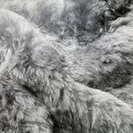 Icelandic Shorn Sheepskin - Dyed Grey Rug