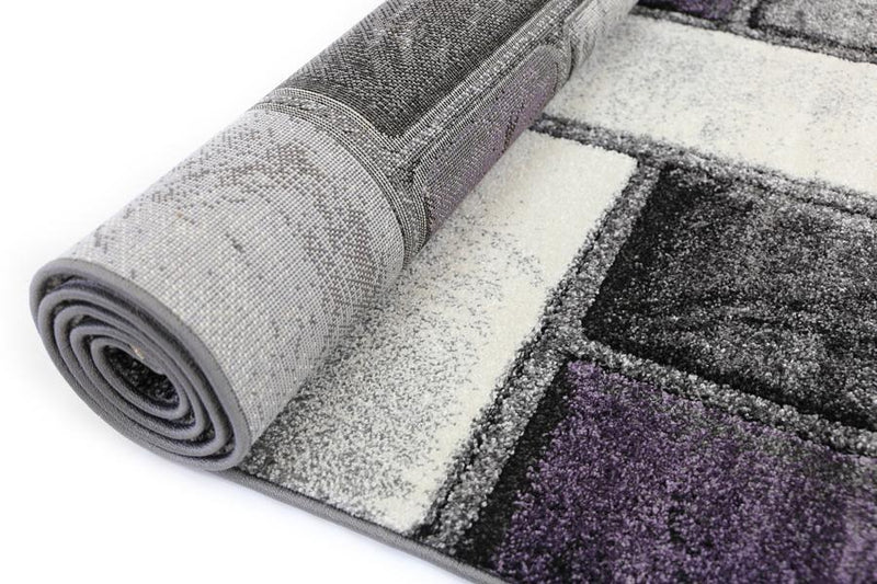 Liya Purple Textured Pile Rug