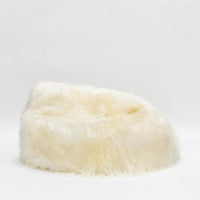 Icelandic Sheepskin Bean Bag - White Rug