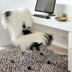Icelandic Sheepskin - White With Black Spots Rug