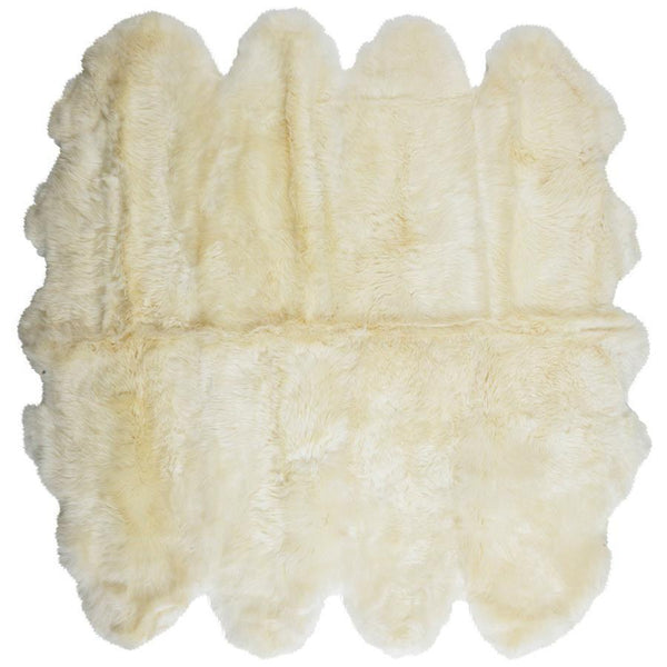 Merino Sheepskin Area (8 Panels) - White Rug